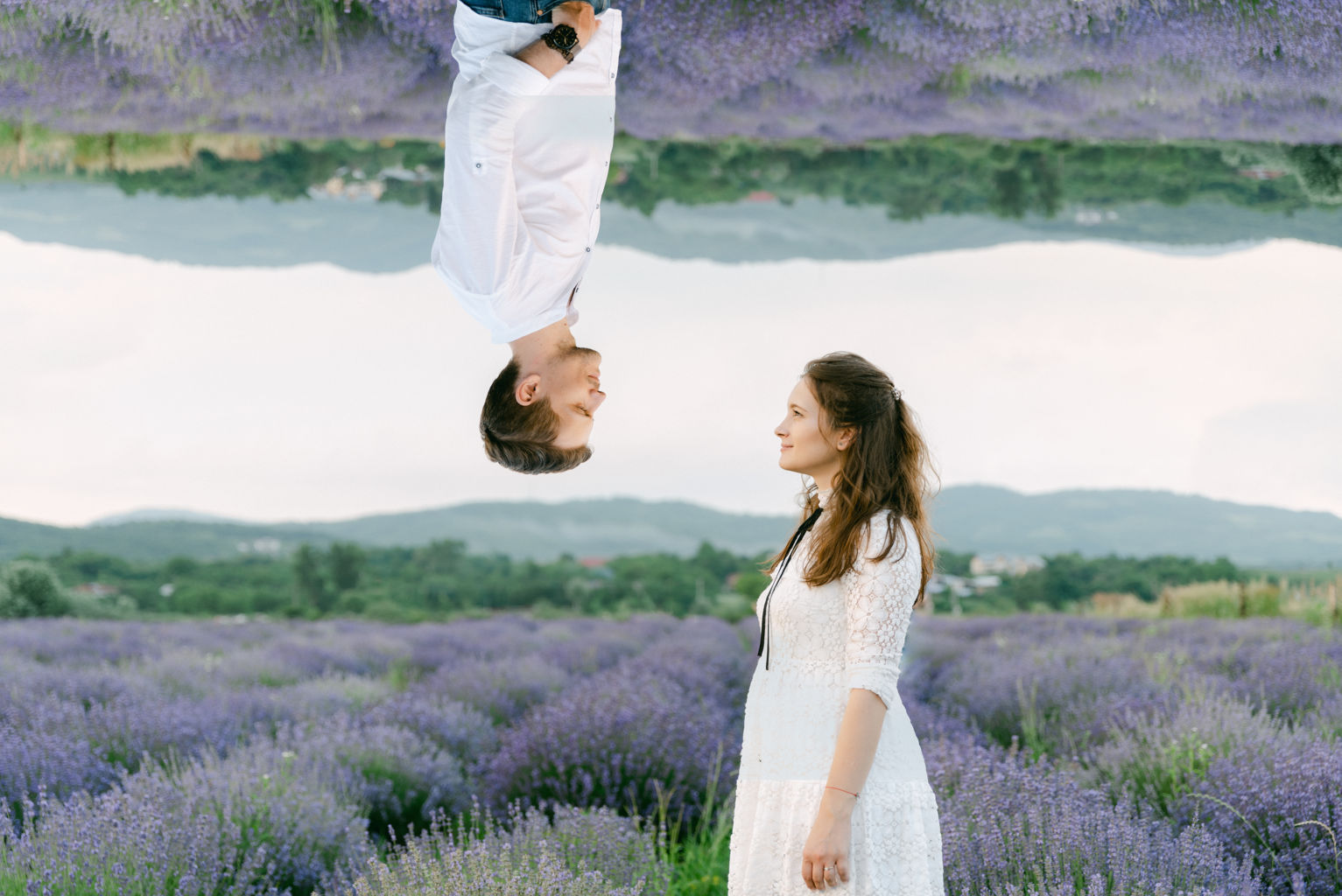 couple photoshoot lavender Provence Nice